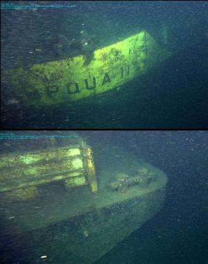 Researchers find wreck of sunken barge in Monterey Canyon