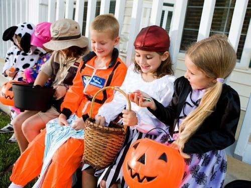 Researchers study the behavior of trick-or-treating children