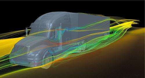 Researchers study potential of drag-reducing devices on semi-trucks to conserve energy
