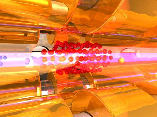 A brake for spinning molecules