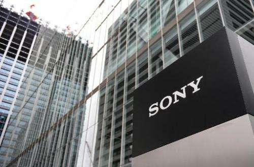 A logo of Japan's Sony Corporation is displayed at its headquarters in Tokyo on May 14, 2014