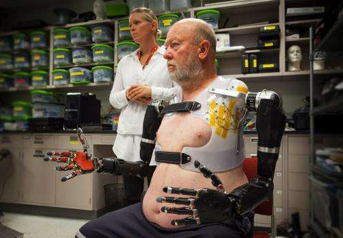 Amputee puts limb system through its paces