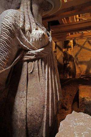 Ancient Greek tomb dig finds marble statues