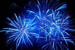 A new blue-light-emitter for fireworks