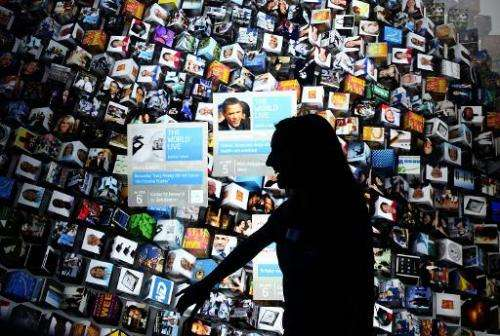 An Intel employee demonstrates the Intel touchscreen display on January 7, 2010 in Las Vegas, Nevada