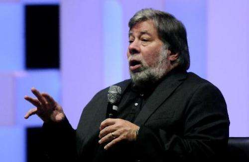 Apple co-founder Steve Wozniak speaks in Medellin, Colombia on August 2, 2014. He has accepted an adjunct professorship at a Syd