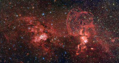 A spectacular landscape of star formation