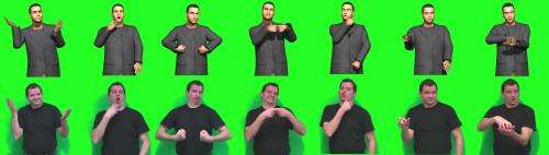 Avatars make the Internet sign to deaf people
