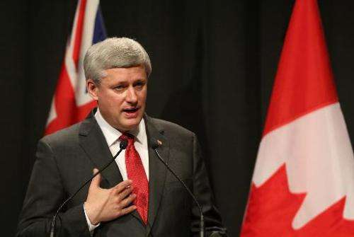 Canada PM Stephen Harper said his country will only cut carbon emissions from its oil and gas sectors if the US does, even thoug