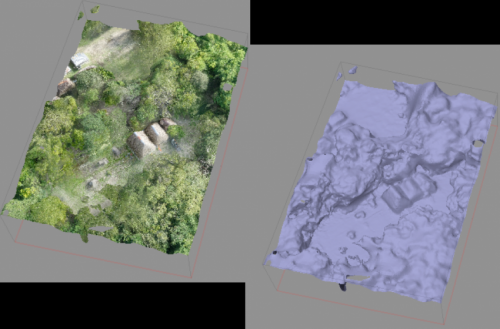 Capturing ancient Maya sites from both a rat's and a 'bat's eye view'