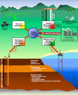 Carbon capture utilization and storage