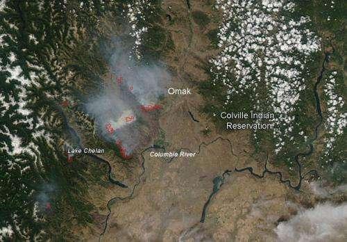 Carlton Fire Complex, Washington -- July 22, 2014