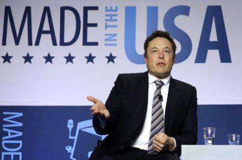 CEO and chief designer of SpaceX Elon Musk in Washington, DC, on April 25, 2014