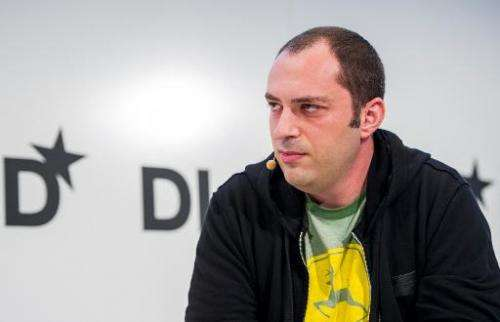 CEO and co-founder of messaging service WhatsApp Jan Koum at a conference in Munich, Germany on January 20, 2014