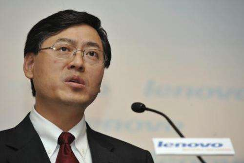 CEO of Chinese computer giant Lenovo, Yang Yuanqing, pictured during a press conference in Hong Kong, on May 21, 2009