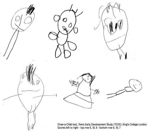 Children's drawings indicate later intelligence
