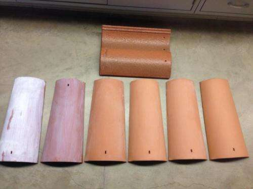 Cleaning air with roof tiles: Titanium dioxide coating