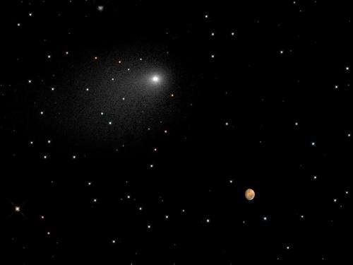 Close Encounters: Comet Siding Spring Seen Next to Mars