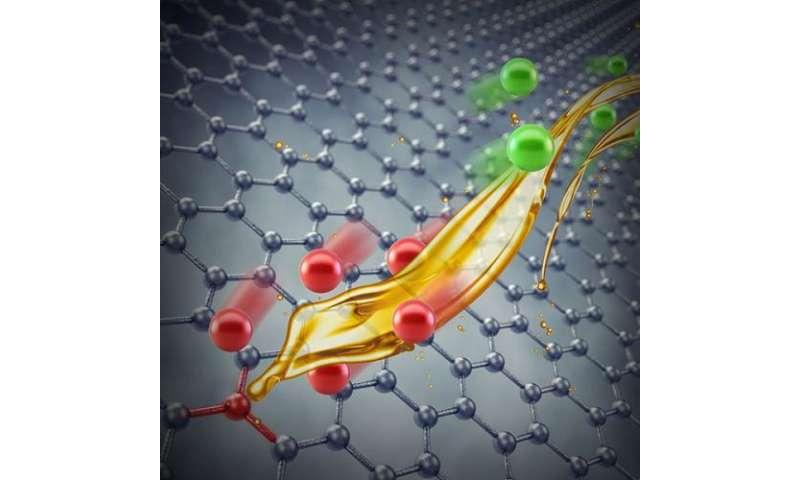 Defects on graphene electrode alter behavior of electrode-electrolyte interface