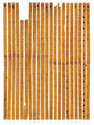 Donated Chinese bamboo strips turn out to be ancient multiplication table
