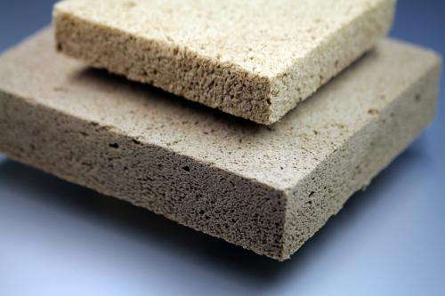Effective thermal insulation with wood foam