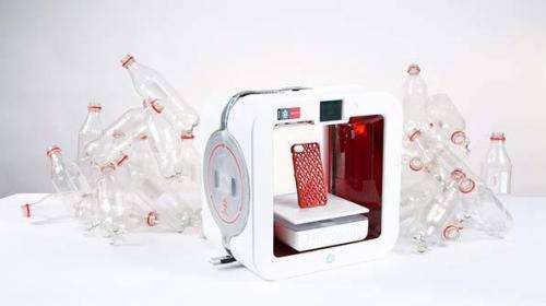 Ekocycle 3D printer uses recycled plastic bottles as component in filament cartridges
