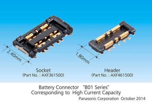 Industry's thinnest battery connector corresponding to 6 ampere high current capacity