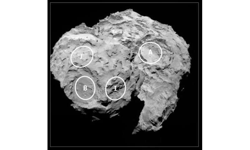 Europe sees five possible sites for comet landing