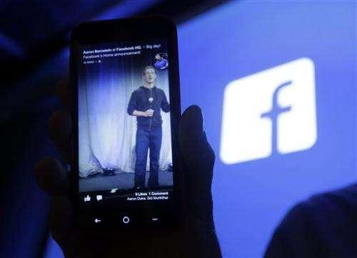 Facebook 4Q earnings, revenue grow sharply