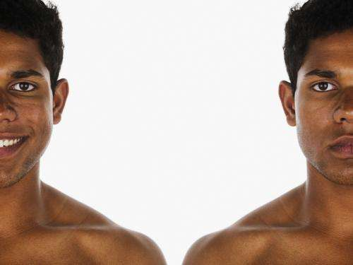 Facial symmetry and good health may not be related