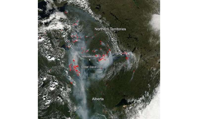 Fires and Smoke in Canada's Northern Territories