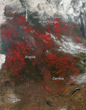 Fires in Central Africa During July 2014