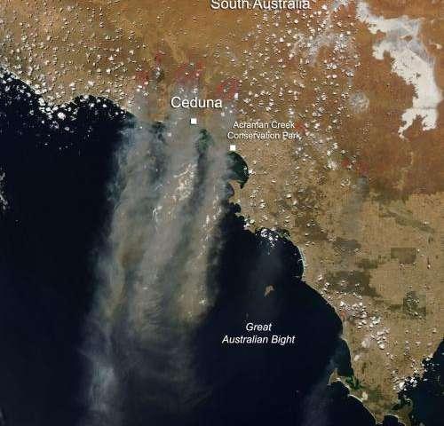 Fires in South Australia Jan. 16, 2014