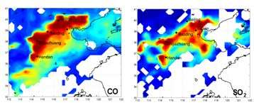 First infrared satellite monitoring of peak pollution episodes in China