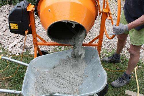 Fly ash builds green cement mixture