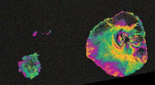 Fogo volcano on Sentinel's radar
