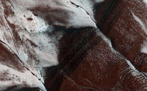 Frosty slopes on Mars
