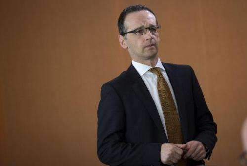 German Justice Minister Heiko Maas at the Chancellery in Berlin on March 26, 2014