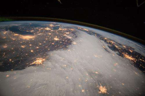 Great Lakes and Central U.S. viewed from the International Space Station