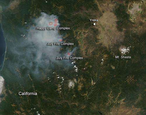 Happy Camper and July Fire Complexes in California