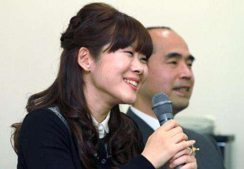 Haruko Obokata, Japan's Riken Institute researcher, announces her stem cell research at a press conference in Kobe, western Japa