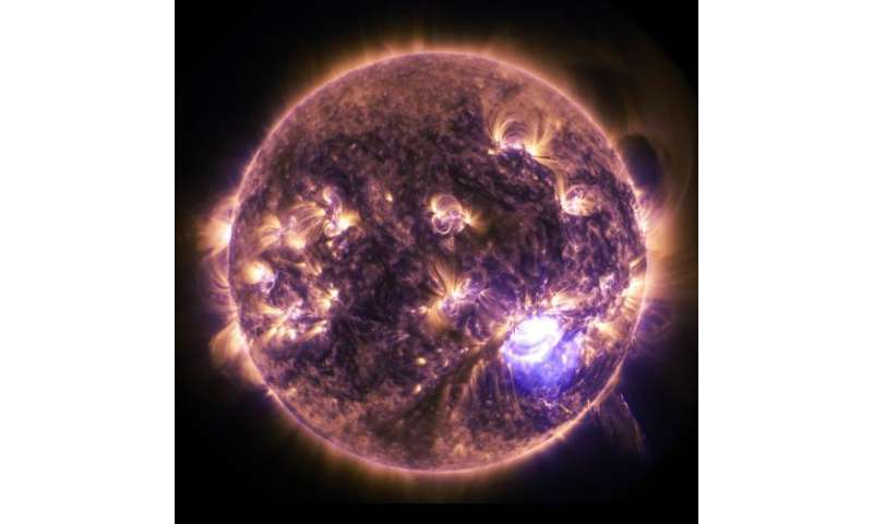 Holiday lights on the Sun: SDO imagery of a significant solar flare