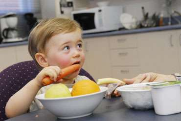 Hungry or not, kids will eat treats