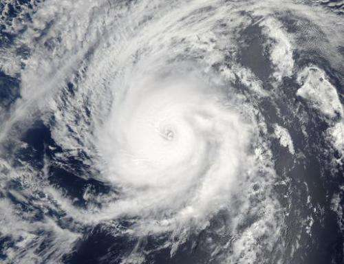 Hurricane Iselle is pictured in the Eastern Pacific Ocean on August 3, 2014