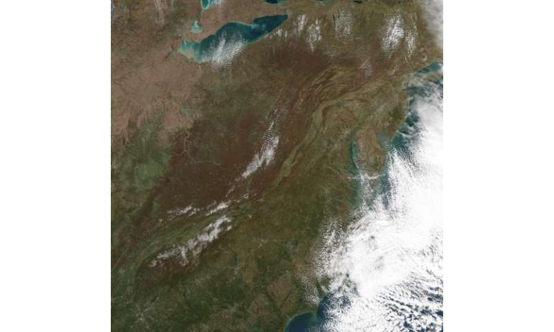 Image: Early snow on the great smokies
