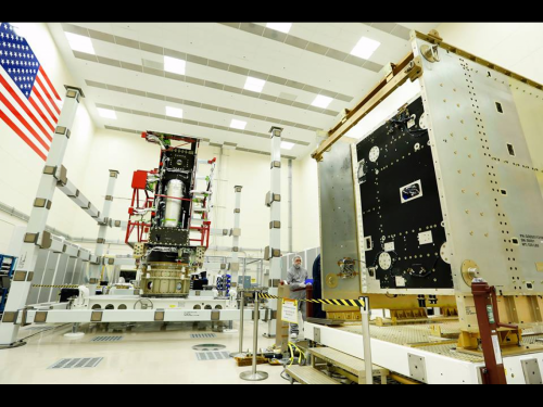 Image: GOES-R propulsion and system modules delivered