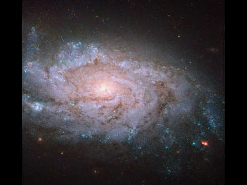 Image: Hubble sees a spiral home to exploding stars