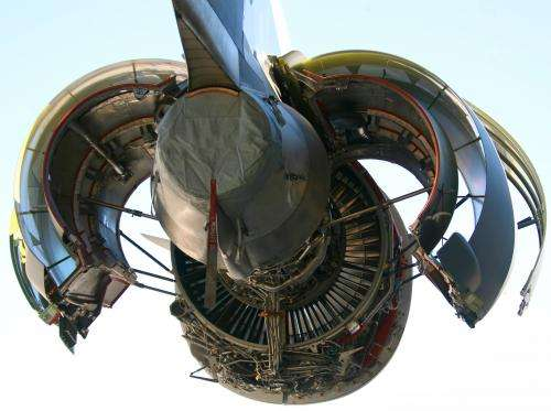 Industrial waste converted in coating for aircraft turbines
