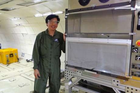 In low gravity, scientists search for a way to saute