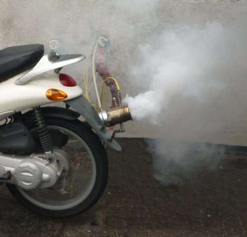 In some towns, small mopeds cause more air pollution than cars